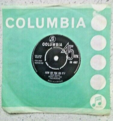"Gerry And The Pacemakers - How Do You Do It? - 7"" Vinyl - 1963 - Vg - Db 4987"
