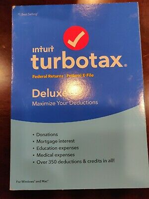 Brand new Intuit Turbotax Deluxe For Windows and Mac