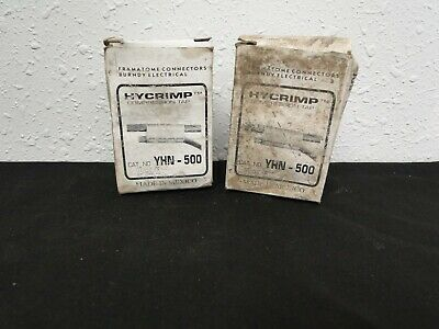 Burndy Hycrimp Compression Tap YHN-500 Lot Of 2
