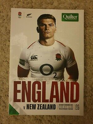 2018 England Vs New Zealand Programme: Rugby Union