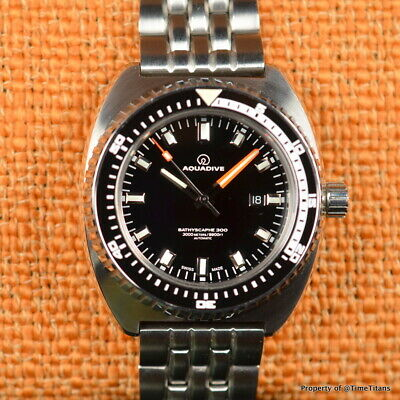 AQUADIVE BATHYSCAPHE 300 LIMITED MADE IN GERMANY 47mm STEEL BRACELET AUTOMATIC