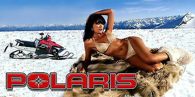 Polaris RMK, Rush, Switchback, Indy Snowmobile Garage trailer banner - Chic #18