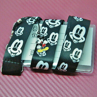 Disney Inspired Character Mickey Mouse Lanyard Card Holder & Safety Clip