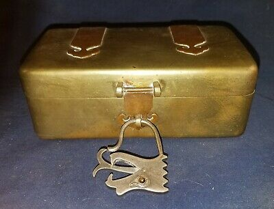 Antique Chinese Mixed Metal Box With Unusual Lock