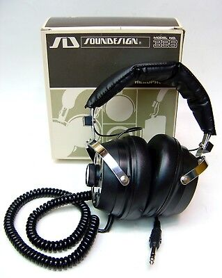 Hi-Fi Stereo Sound Headphones Air Cushioned Made In Japan Vintage New In Box