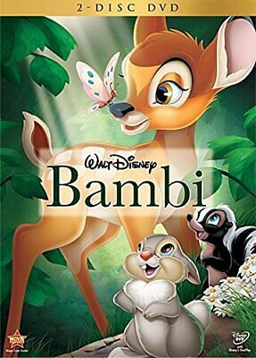 Bambi (DVD, 2-Disc Set 2011 ) FREE Shipping - UNSEALED NOT WATCHED - MINT