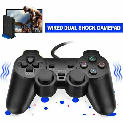 For PS2 PlayStation 2 Wire Cable Controller Dual Shock Gamepad Console Joypad KU