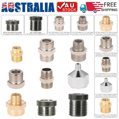 9Pcs Airbrush Adaptor Kit Fitting Connector Set for Compressor & Airbrush Hose