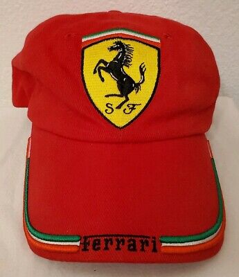 Ferrari Gear Official Licenced Embroidered Red Baseball Hat Cap EUC