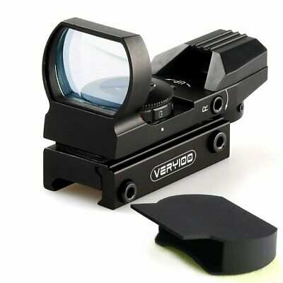 Tactical Holographic 4 Reticle Red/Green Dot Reflex Sight Scope 20mm Rail +Case