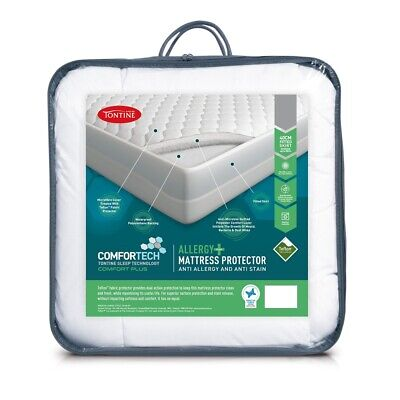 NEW Tontine Comfortech Allergy Plus Mattress Protector By Spotlight