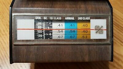 Park Sherman Vintage Manual Postal Scale Woodgrain 1978