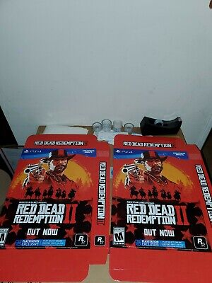 """Red Dead Redemption 2 Promo Display Boxes (Lot of 2) 11""""×14"""" Brand New"""