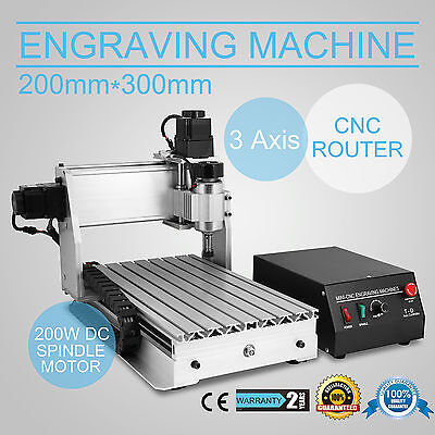 New 3020T 3 Axis USB CNC Router Engraver Engraving Crafts wooden Cutting