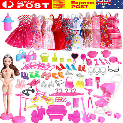 85X Items for Doll Dresses Shoes Jewellery Clothes Set Accessories Kids Gifts
