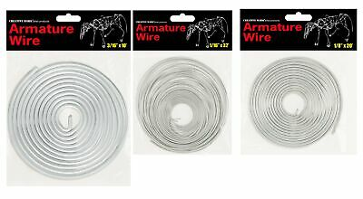 "Creative Mark Armature Wire 1/4"" 1/8"" 1/16"" 3/16"" Aluminum Sculpture Modeling"