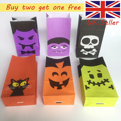 Halloween Candy Paper Bags For Sweet Flavour Buffet Wedding Cake Gift Shop Uk