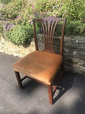 Antique Vintage Mahogany Occasional Side Chair - Bedroom / Dining Room