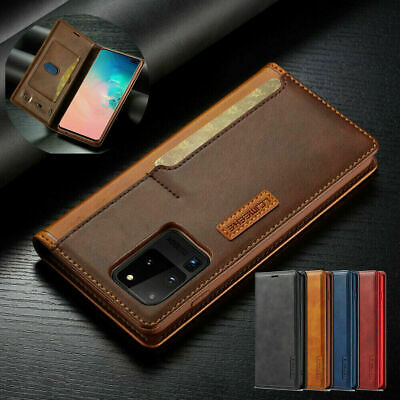 Flip Case for Samsung Galaxy S10 Plus S9 S8 Magnetic Leather Wallet Phone Cover