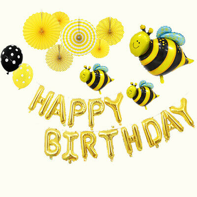 Balloon Insect Little Bee Styling Birthday Package Cartoon Decorative Aluminum