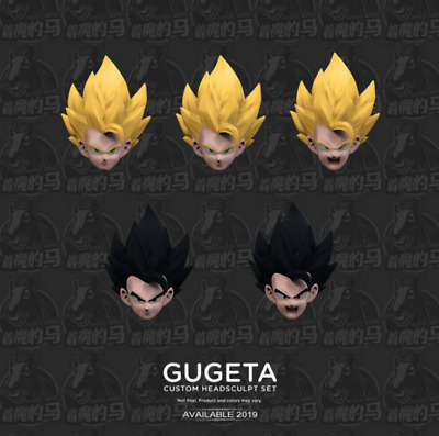 New Demoniacal Fit Dragon Ball Custom headsculpt set for SHF Gogeta toy in stock