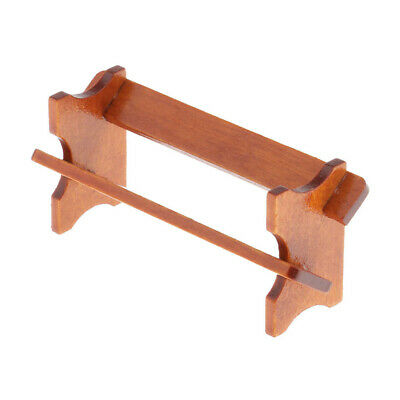 12th Handmade Dollhouse Miniature Wood Magazine Rack Holder Bookshelf Craft