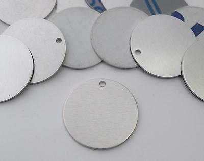 5 METAL STAMPING Blanks Silver 10mm Blank Charms Stainless