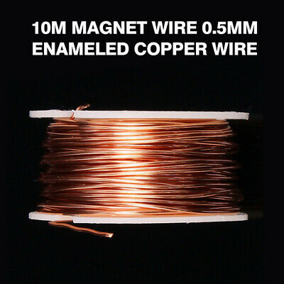0.5mm Dia Magnet Wire Enameled Copper Wire Magnetic Coil Round Coi Winding 10m