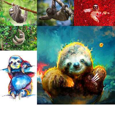 Sloth Animal Full Drill DIY 5D Diamond Embroidery Painting Cross Stitch Mural UK