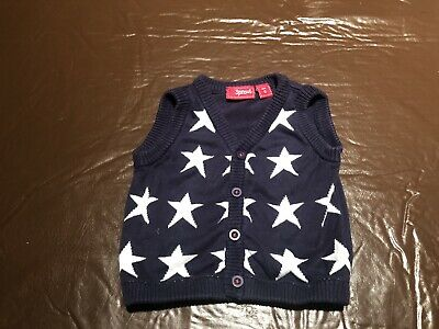 Sprout Size 0 Adorable Knit Star Vest - As New