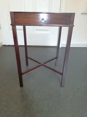 Antique Small Mahogany Side /Occasional /Lamp /Plant Table French Polished. VGC.