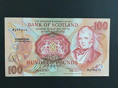 GB Bank of SCOTLAND  £100 1994 rare high value note in GEM UNC !!!!