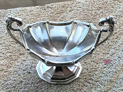Sterling Silver Twin Handled Sugar Bowl - James Deakin & Sons - Chester - 1898