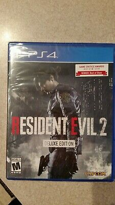 RE2 Resident Evil 2 DELUXE Edition (PlayStation 4) BRAND NEW FACTORY SEALED! ps4
