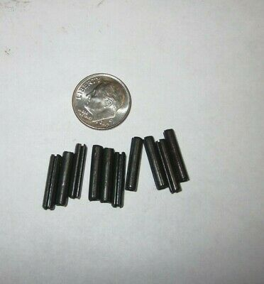 """ROLL SPRING PINS 3/32"""" x 1/2"""" BOLT CATCH LOT OF 10 STEEL"""