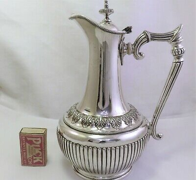 Victorian Silver Plated Hot Water / Claret Jug Ashberry & Sons 1870