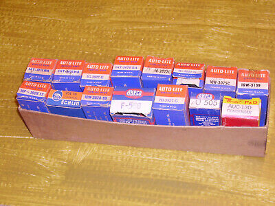 1930s-40s 50s Autolite mostly Condensors. Ford/GM/Chrysler etc. Nos.