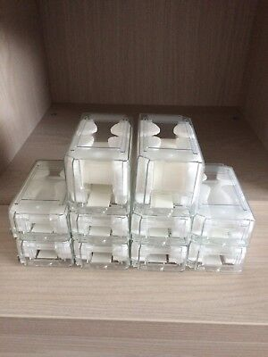 2 Large And 8 Classic Watch Travel Storage Plastic Box Rolex