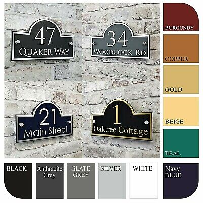 Contemporary House Address Plaques & Door Number Signs Personalised Name Plate