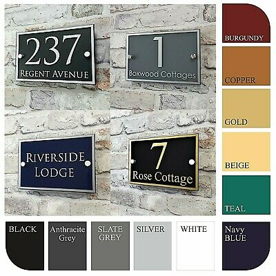 Contemporary Address Plaques House Signs & Door Numbers Personalised Name Plates