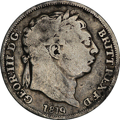 1819 George III sixpence Great Britain silver coin