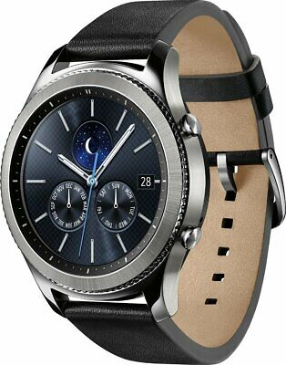 Samsung Galaxy Gear S3 Classic 46mm Stainless Steel Silver Case and Black Band