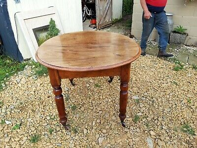 Victorian Dining Table on Casters