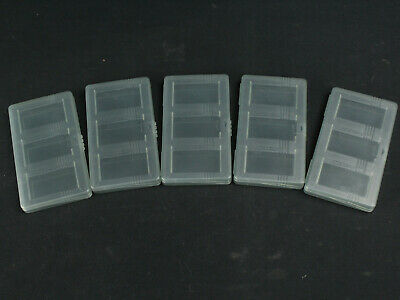 Official Nintendo Game Boy Advance GBA SP 3-Cartridge Gray Storage Case Lot of 5