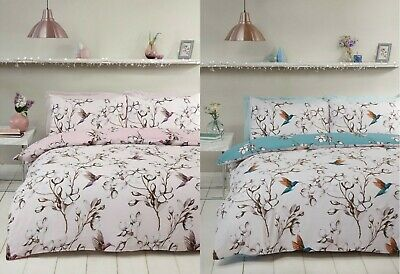 Ted Baker Highgrove Double Duvet  Cover BNWT Floral Hummingbird Cotton Orient