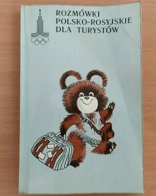 Polish Russian tourist phrasebook language Olympic Games 1980 pocket dictionary