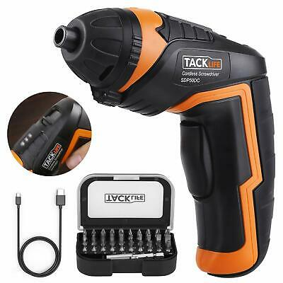 Cordless Screwdriver, Tacklife SDP50DC Electric Rechargeable Screwdriver 3.6V 20