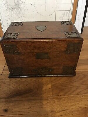 Rare Antique Rosewood Victorian Writing Stationary Travel Box Caligraphy