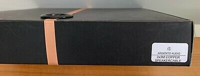 ARGENTO AUDIO Copper Speaker cables 3m x2 NEW Wax-Sealed box