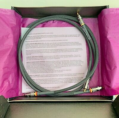 GUTWIRE Basic RCA Phono Interconnect 1m x2 hand crafted cables NEW boxed